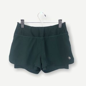 MPG Double Layer Athletic Shorts in Forest Green